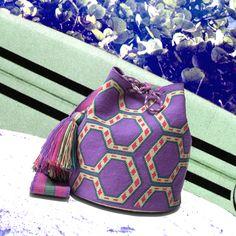 Wayuu Mochila bag PRETTY IN PURPLE. All one-of-a-kind styles at www.wayuutribe.com #Shoulderbag…