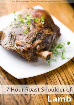 7 Hour Slow-Roast Shoulder of Lamb. 7 Hour Slow-Roast Shoulder of Lamb - It really is true good things happen to those who wait. Slow Roast Lamb, Lamb Ribs, Slow Cooked Lamb, Shoulder Of Lamb Recipes, Balsamic Onions, Balsamic Vinegar, How To Cook Lamb, Western Food, Have Time