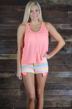 Zippin Into Summer Shorts-Neon Pink   UOIONLINE.COM