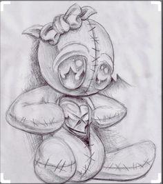 Znalezione obrazy dla zapytania voodoo doll drawing
