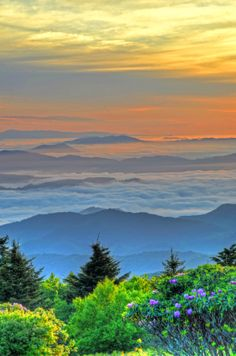 Our gorgeous Blue Ridge Mountains ... a spring sunset in the Cashiers area, southwest of Asheville, NC.