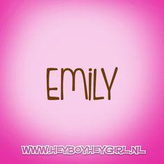 Emily (Voor meer inspiratie, en unieke geboortekaartjes kijk op www.heyboyheygirl.nl)