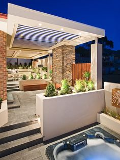 Modern Pergolas Design--like the lights incorporated in the pergola