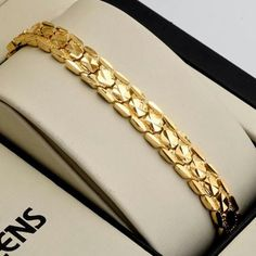 """Hotsale wedding jewelry 18k yellow gold filled #charms #bracelet #womens 7.5"""" lin,  View more on the LINK: http://www.zeppy.io/product/gb/2/262435481959/"""