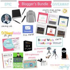 Epic Blogger's Bundle #Giveaway worth over $700