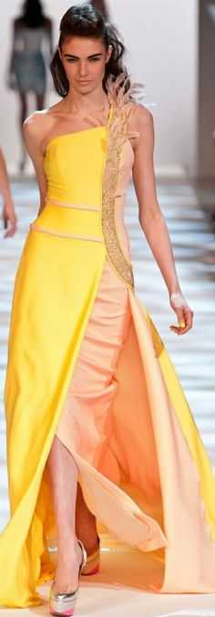 Georges Chakra Spring 2013 Couture Collection | ❤︎† Yellow Essence | https://www.pinterest.com/sclarkjordan/yellow-essence/