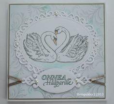 swan wedding card
