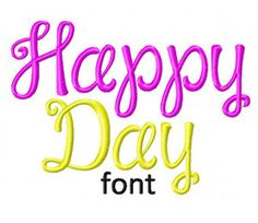The Happy Day Machine Embroidery Monogram Font set is the Perfect Design to Personalize all your Projects! Includes Upper and Lowercase Letters, Numbers and Bonus Punctuation in all of following si...