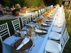 Sunflower and Summer served dinner table.