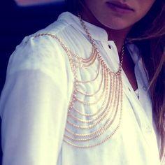 Multi-Chain Shoulder Necklace