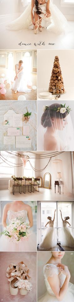 Ballet Wedding Inspiration I love this. I would never make Chris have a pink wedding and I'm not really a dancer but I love this. Dance Photography, Beauty Photography, Wedding Photography, Trendy Wedding, Dream Wedding, Wedding Day, Wedding Dress, Wedding Themes, Wedding Colors