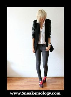 Wedge, Fashion Inspiration, Casual Outfits, Comfy, Street Style, Blazer, My Style, Stylish, Sneakers