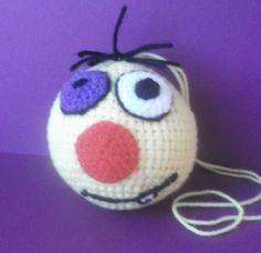 Knitting smile keychain ball gift souvenir toy by Smaylomaniye, $10.00
