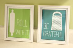 Adorable printables for the kitchen.