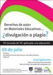 Afiche VII Jornada de TIC aplicadas a la educación para docentes de la FCEA