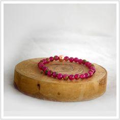 Jade Tourmaline / Pink Gemstone / Energy Bead Bracelet  / Healing / Yoga Beads / Meditation Bracelet / Jade / Womens Bracelet / Feminine