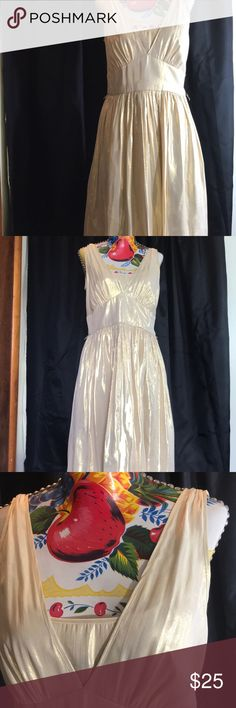 """Calvin Klein Gold dress Look like a Greek goddess in this gorgeous Calvin Klein dress, which is 41"""" long, 18"""" armpit to armpit. Lightweight woven gold material with a lined skirt and underlay at bodice. No issues, but it has belt loops and no belt.   All items ship promptly from my cat friendly, smoke free home. Calvin Klein Dresses Prom"""