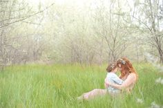 mother daughter photo shoot | white linen photography