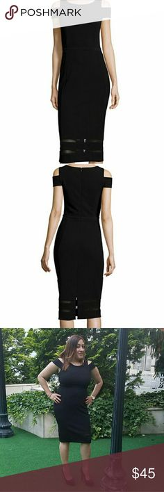 """Black Dress Black Dress.  Size Medium. Used once for a few hours.  No damages.  Has some spandex. 42"""" length from the shoulder. Dresses"""