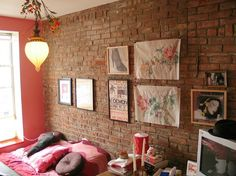 65 Interesting Bedrooms Designs With Brick Walls - Decorating Ideas