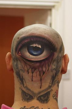 Teachers could really have eyes in the back of their head.  Eye tattoo by John Anderton. #tatts #inked #tattoo www.nemesistattoo.co.uk
