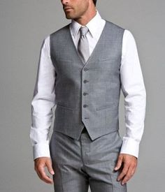 Grey tux for groomsmen