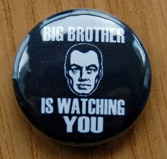 """""""big #brother is #watching you"""" 1984 25mm badge #george orwell book literature,  View more on the LINK: http://www.zeppy.io/product/gb/2/230691481793/"""