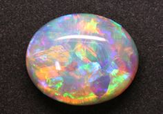 Can you believe this is real? Gem 7.75 ct Lightning Ridge Crystal Opal polished stone