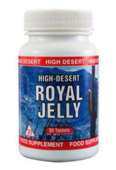 Royal Jelly High Desert Tablet adalah royal jelly yang dibekukan melalui sistem pengeringan segera setelah diekstraksi, diperkaya dengan bee pollen dan bee propolis. Royal Jelly High Desert Tablet ini diformulasikan bagi mereka yang aktif dan energik.