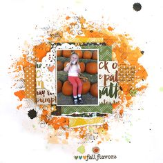 Fall Flavors - My Creative Scrapbook October Main kit 2015 - Simple Stories - Pumpkin Spice Collection