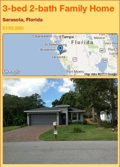 3-bed 2-bath Family Home in Sarasota, Florida ►$199,900 #PropertyForSale #RealEstate #Florida http://florida-magic.com/properties/73599-family-home-for-sale-in-sarasota-florida-with-3-bedroom-2-bathroom