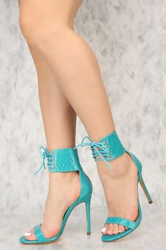 Born This Way Snakeskin Heels