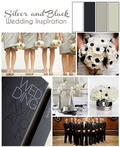 Silver and White Wedding Inspiration OR Go Spurs Go!