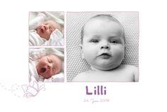 Geburtskarte Schmetterling 5 Fotos by Tomoë für Rosemood.de #Babykarte #Foto #Schmetterling