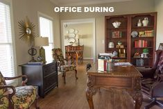 The Evolution Of A Farmhouse Style Home Office - Before And After - Worthing Court