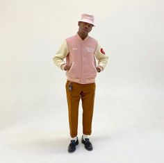 Tyler The Creator Fashion, Golf Fashion, Fashion Outfits, Nigo, Alter, Put On, Celebrity Style, Windbreaker, Street Wear