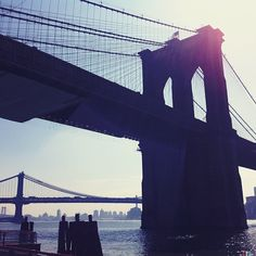 three bridges: brooklyn, manhattan, williamsburg. #nyc #landmarked - @karummms- #webstagram