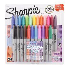 Sharpie Fine-Tip Permanent Marker, 24-Pack Assorted Colors (Electro Pop Colors) Sharpie http://www.amazon.com/dp/B00UVXCVIK/ref=cm_sw_r_pi_dp_jjUpvb0VCDPKQ