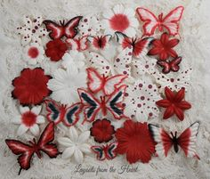 Paper Flower Petals Layers and Butterflies by LayoutsFromTheHeart