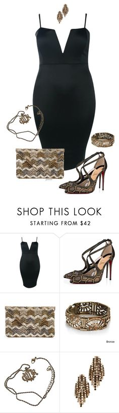 """""""She's gone- plus size"""" by gchamama ❤ liked on Polyvore featuring Boohoo, Christian Louboutin, Sole Society, Sweet Romance, Christian Dior and Elizabeth Cole"""