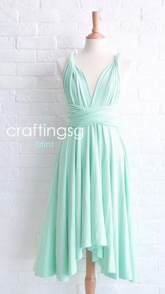 Bridesmaid+Dress+Infinity+Dress+Mint+Knee+Length+by+craftingsg,+$35.00