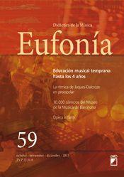 """O número 59 da revista Eufonía ofrécenos un artigo moi interesante titulado """"Ópera infantil: Recursos y obras para trabajar con niños""""."""