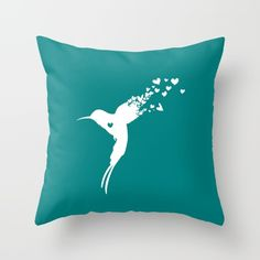Hummingbird Throw Pillow by CaliTime. Worldwide shipping available at Society6.com. Just one of millions of high quality products available.
