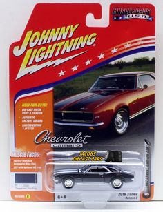 1:64 JOHNNY LIGHTNING 2016 MUSCLE CARS USA 1967 CHEVY CAMARO Z28  Deepwater Blue #JohnnyLightning #Chevrolet