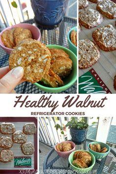 Healthier Walnut Refrigerator Cookies