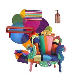 """Sans titre #15"" by letord on Polyvore featuring interior, interiors, interior design, maison, home decor, interior decorating, Cappellini et Aquanova"