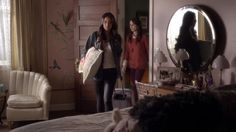 Emily and Spencer in Alison's room on Pretty Little Liars   Pretty Little Liars