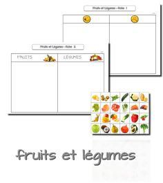 La maternelle de Laurène: Semaine du goût : les fruits et légumes Kindergarten Activities, Learning Activities, Activities For Kids, French Teaching Resources, Teaching French, French Worksheets, Core French, 1st Day Of School, French Lessons