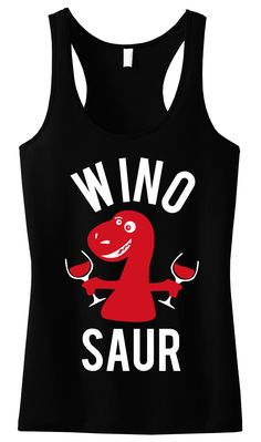 For days out with the #Bridesmaids! WINOSAUR Black Tank Top. Only $24.99 with Free Shipping, click here to buy http://mrsbridalshop.com/collections/bridesmaids/products/winosaur-black-tank-top