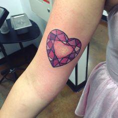 love heart sapphire tattoo - Google Search